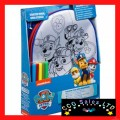 Official Paw Patrol Colour Your Own Backpack & 5 Colour Pens