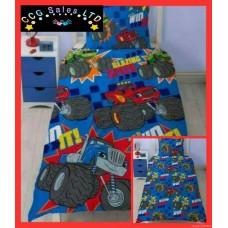 Official Blaze And The Monster Machines Reversible Single Duvet Bedding Set