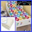 Official Teletubbies Playtime Reversible 4 Piece Toddler Duvet Set, 3.5 tog Quilt and Pillow Bedding Bundle Set