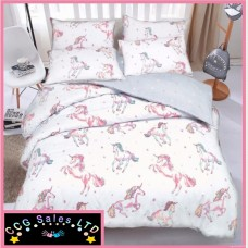 Luxury Unicorn Reversible Single Duvet Bedding Set