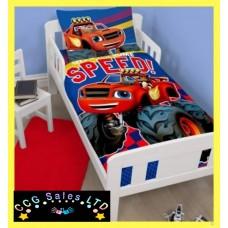Official Blaze And The Monster Machines Reversible Toddler Duvet Bedding Set