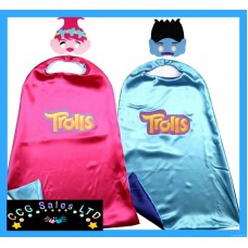 Dreamworks Trolls Themed Dress Up Cape And Mask Set