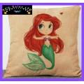 The Little Mermaid 'Ariel' Large Canvas Cushion