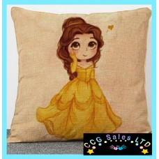 Beauty And The Beast 'Belle' Large Canvas Cushion