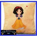 Snow White And The Seven Dwarfs 'Snow White' Large Canvas Cushion
