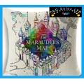 Harry Potter 'Maurauder's Map' Large Canvas Cushion