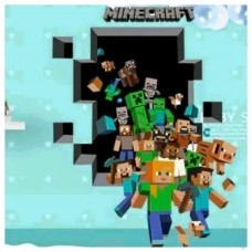 Minecraft Themed Character Burst Wall Decal