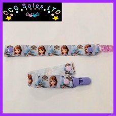 Handmade Disney 'Sofia The 1st'' Newborn And Toddler Dummy Clip