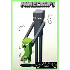 Minecraft Themed Wall Decal - Enderman/Creeper