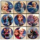 Frozen Themed Badges X10