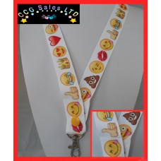 Handmade 'Emoji' Lanyard