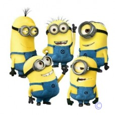 Despicable Me Minion Themed Wall Decal Group
