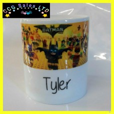 Personalised Lego Batman Custom Made Ceramic Money Box