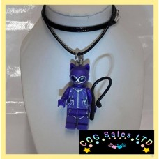 Handmade Batman Lego Movie 'Catwoman' Themed Mini Fig Toy Necklace