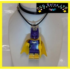 Handmade DC Comics 'Batwoman' Themed Mini Fig Toy Necklace