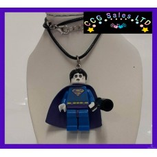 Handmade DC Comics 'Bizarro' Themed Mini Fig Toy Necklace