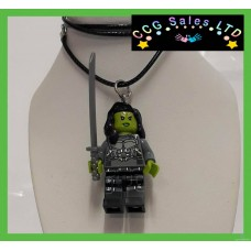 Handmade Guardians Of The Galaxy 'Gamora' Themed Mini Fig Toy Necklace