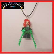 Handmade DC Comics 'Poison Ivy' Themed Mini Fig Toy Necklace