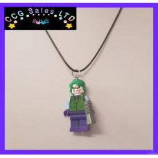 Handmade DC Comics 'Heath Ledger Joker' Themed Mini Fig Toy Necklace