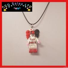 Handmade DC Comic 'Nurse Harley' Themed Mini Fig Toy Necklace