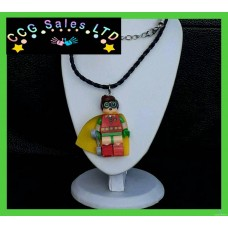 Handmade DC Comics 'Robin' Themed Mini Fig Toy Necklace