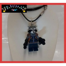Handmade Guardians Of The Galaxy 'Rocket' Themed Mini Fig Toy Necklace