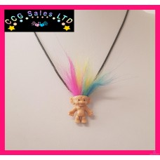 Handmade Classic 'Trolls' Themed Mini Fig Toy Necklace