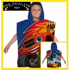Official Blaze And The Monster Machines Hooded Poncho Towel