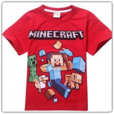 Minecraft Themed T-shirt Red