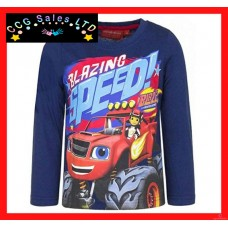 Official Blaze And The Monster Machines Long Sleeve Top T-Shirt