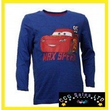 Official Disney Cars Long Sleeve Top T-Shirt