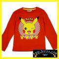 Official Pokemon Pikachu Long Sleeve Top T-Shirt