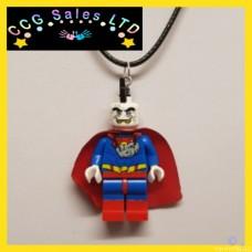 Handmade DC Comics 'Bizarro' Themed Mini Fig Toy Necklace